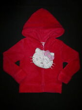 Hello Kitty Toddler Girls Pink Fleece Hooded Sweater Jacket 3T