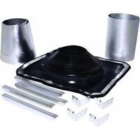 """5"""" To 8"""" Galv Rubber Boot Metal Roof Chimney Stove Pipe Flashing Kit URBAK"""