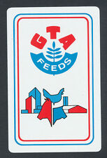 GTA Feeds advertising playing card single swap ace of spades - 1 card