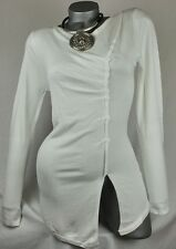 DESIGNER STRICK LONG PULLI SHIRT VISKOSE WEISS 40 42