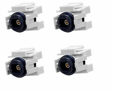 4x Audio Toslink Optic Fiber Optics Snap-in Jack Insert for Keystone Wall Plate