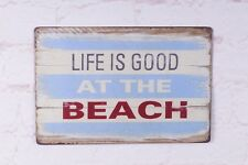 Metal Tin Sign Life Is Good At The Beach Decor Bar Pub Home Vintage Retro Poster