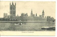 OLD POSTCARD OF THE HOUSES OF PARLIAMENT, LONDON - THE WRENCH SERIES No30 - 1906