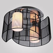 Techo moderna lámpara colgante de iluminación Luz elegante 2 Luces Negro WY01