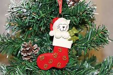 Personalised Christmas Tree Ornament Decoration - Cat Stocking