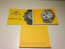 RARE BOOKLET BREITLING FOR CHRONO SUPEROCEAN WATCH