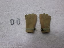 Seal Team 5 VBSS Team Leader GI Rappelling Gloves w/ 2 Clips Parts - Hot Toys