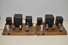 Lot of 2 Heathkit W4-AM Tube Amplifier Amp sold as parts and repairs.