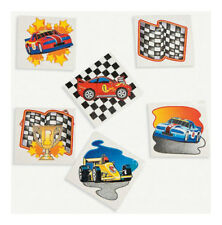 36 Assorted Fun Racing Race Car Kids Temporary Tattoos Party Favors