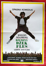 JUMPING JACK FLASH 1986  WHOOPI GOLDGERB STEPHEN COLLINS RARE EXYU MOVIE POSTER