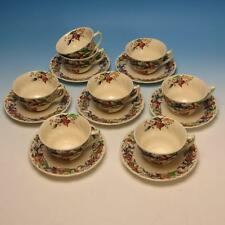 Royal Doulton China - Tintern Pattern - 8 Cups, 7 Saucers - 3¾ x 2¼ inches