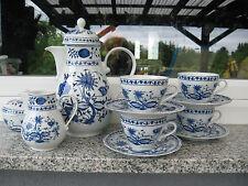 SERVICE à CAFE 4 PERSONNES  Porcelaine KAHLA  décor ZWIEBELMUSTER