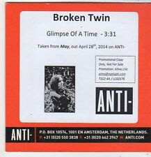 (FJ340) Broken Twin, Glimpse Of A Time - 2014 DJ CD