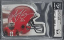 A.J. GREEN 2011 LEAF ULTIMATE DRAFT DIE CUT HELMET ONCARD AUTO RC /49 BGS 8.5 10
