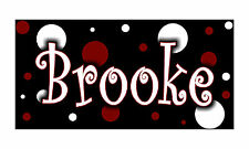 Personalized Monogrammed Custom License Plate Auto Car Tag Polka Dots Maroon