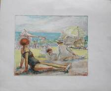 ORIGINAL LITHOGRAPHY  L. K. STRAUCH; teacher of EGON SCHIELE ! - era  KLIMT! (3)