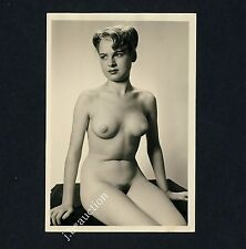 #267 RÖSSLER AKTFOTO / NUDE WOMAN STUDY * Vintage 1950s Studio Photo - no PC !