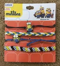 Minions Movie Exclusive 4 Pack Arm Party Bracelet Set New With Tags!