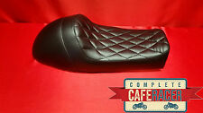 LS16 CAFE RACER BRAT SCRAMBLER FLAT TRACKER LEATHERETTE SEAT IN BLACK