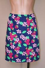 NWOT New Lilly Pulitzer Navy Blue Strawberry Print Cotton Skirt size 12
