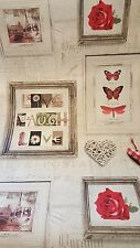 131503 Live Laugh Love Red Shabby Chic Vintage Wood Picture Frame Wallpaper