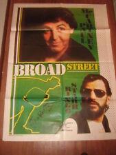 BROAD STREET BEATLES  RINGO,PAUL, MANIFESTO 100X140 CM 1 EDIZIONE