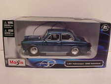 1967 VW Volkswagen 1600 Notchback Die-cast Car 1:24 Maisto 7 inch Blue