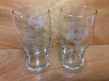 Budweiser 'Game Time' Phillies 20 oz Tulip Tumbler Glasses NEW & F/SH. Set of 2