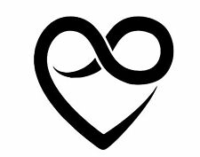 Heart With Infinity Sign Love Life Marley College Custom Decal Bumper Sticker