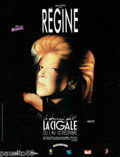 PUBLICITE ADVERTISING 036  1989  Régine  en concert à la Cigale