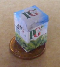 Large Empty PG Tips Tea Bag Box Dolls House Miniature Packet Kitchen Accessory