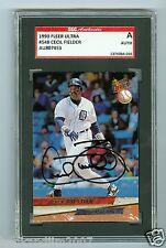 Cecil Fielder Autographed 1993 Ultra Baseball Card #548 SGC Authentic Encased