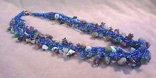 Navajo Flourite & Multi-Color Bead Seven Strand Necklace w/ silver clasp JN0105