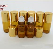 100 Pcs NEW Lot Small 3ML Empty Perfume Roll On Class Roller  Ball Glass Bottlew