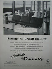 9/1959 PUB CONNOLY VAUMOL LEATHER CUIR GATWICK AIRPORT SEAT SIEGE ORIGINAL AD