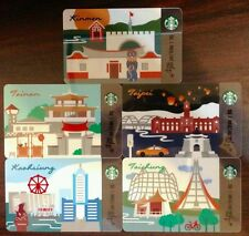 Starbucks Taiwan City Card SET (5 COMPLETE CITY INCLUDING KINMEN!) LIMITED