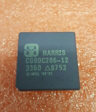 HARRIS CG80C286-12 VINTAGE CPU RARE INTEL ' 82 ' 85 CERAMIC GOLD PLATED PINS