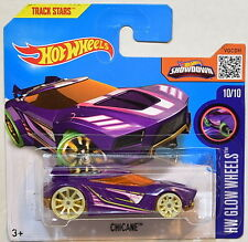 HOT WHEELS 2016 HW GLOW WHEELS CHICANE #10/10 SHORT CARD