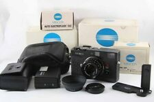 Excellent Minolta CLE +M Rokkor 40mm f2_ w/ flash, Grip, Leather case-#6177