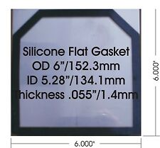 """24 Qty HHO High Temp Flat Silicone Gaskets 1.44 mm/0.055"""" for 6"""" x 6"""" Plates"""