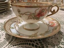 Noritake Nippon Royal Crockery Hand Painted Cup and Saucer