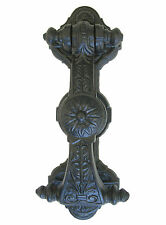 Black Cast Iron Victorian Sunflower Door Knocker – large antique style knockers