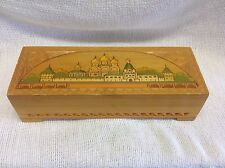 VINTAGE WOOD BOX UNIQUE CARVED RUSSIAN WINTER PALACE ORNATE