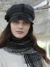 Ladies Tweed Hat - Grey, Mucros Weavers - One size Newsboy Style Cap -  630-1