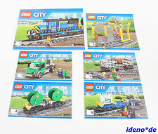 LEGO City Building instruction 60052 - Freight train Locomotive New NO PARTS