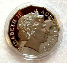 AUSTRALIA 2013  50 CENTS PROOF COAT OF ARMS CuNi  PROOF COIN