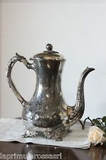 ANTICA CAFFETTIERA IN SHEFFIELD h 26 TEIERA INGLESE EPOCA '800 IN SILVER PLATED