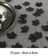 72 Hojas De Tela Negro Boneyard Confeti Decoración Fiesta Halloween Gótico 60214