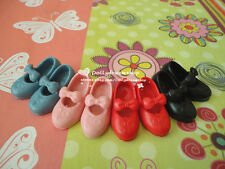 Doll Shoes ~ Takara Licca Bow Shoes 4PAIRS SET NEW-Pink/Red/Black/Grey