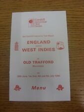 30/06/1988 Cricket: England v West Indies [At Old Trafford] 30th June-5th July 1